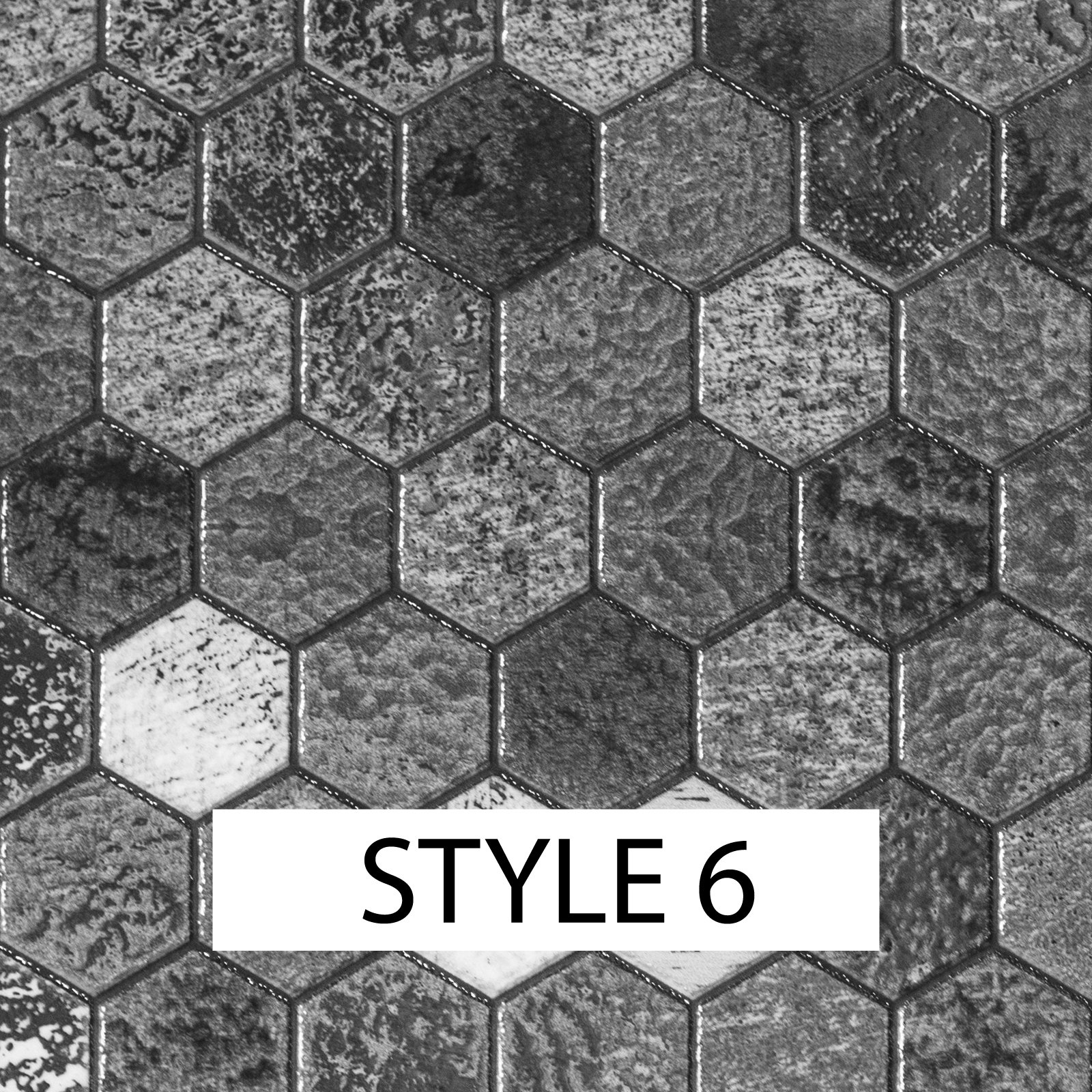 150mm or 100mm Mosaic Tile Stickers Kitchen Bathroom Black Grey Marble Effect